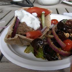 Greek Lamb-Feta Burgers With Cucumber Sauce Kelly