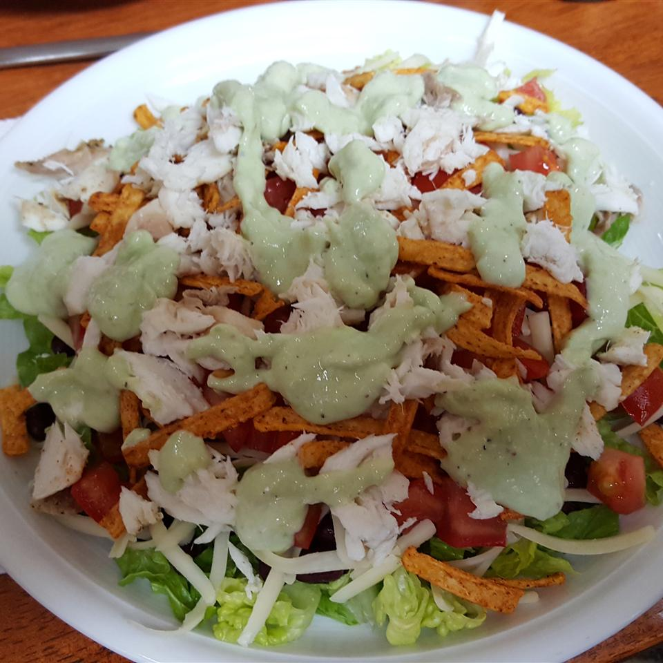Grilled Fish Taco Salad with Avocado Dressing Tipster