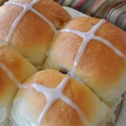 Pull-Apart Hot Cross Buns