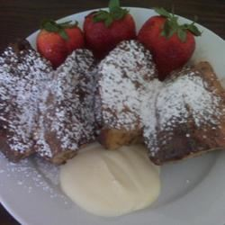 Panettone French Toast With Orange Mascarpone Sauce Stacey Antonio