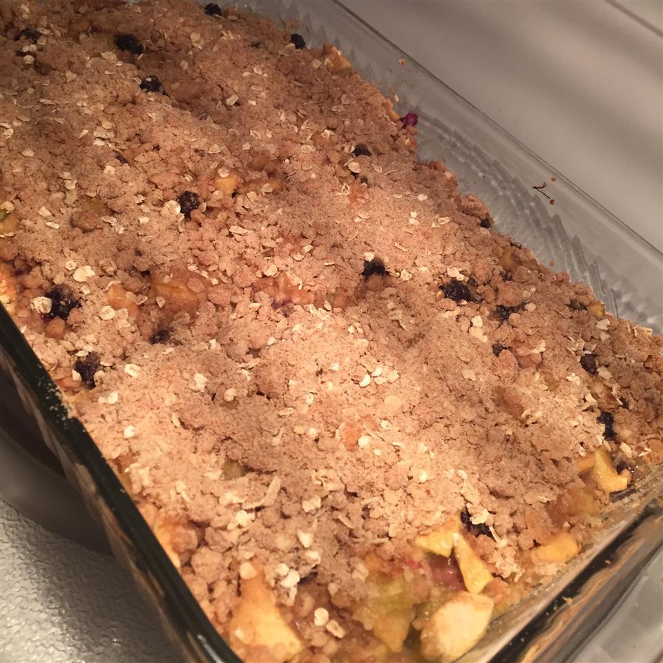 Easy Apple Rhubarb Crisp Teri Edwards