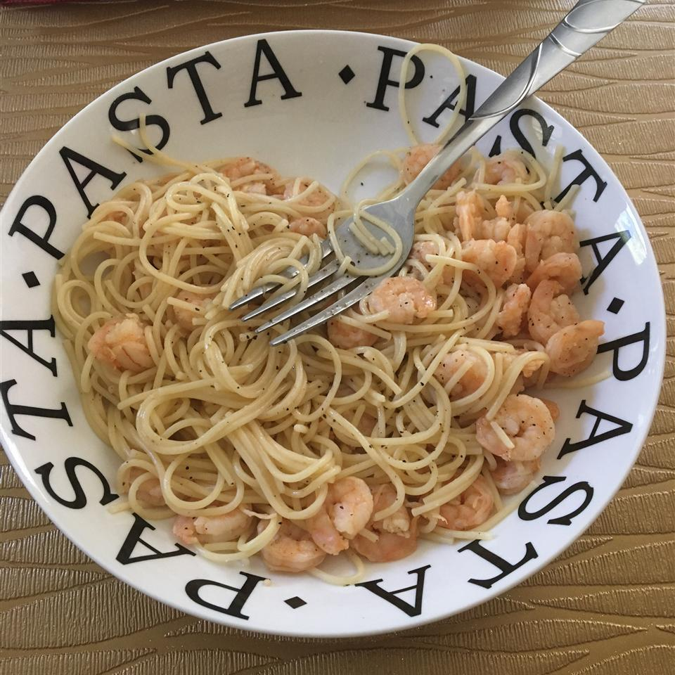 Garlic Shrimp Linguine vcook