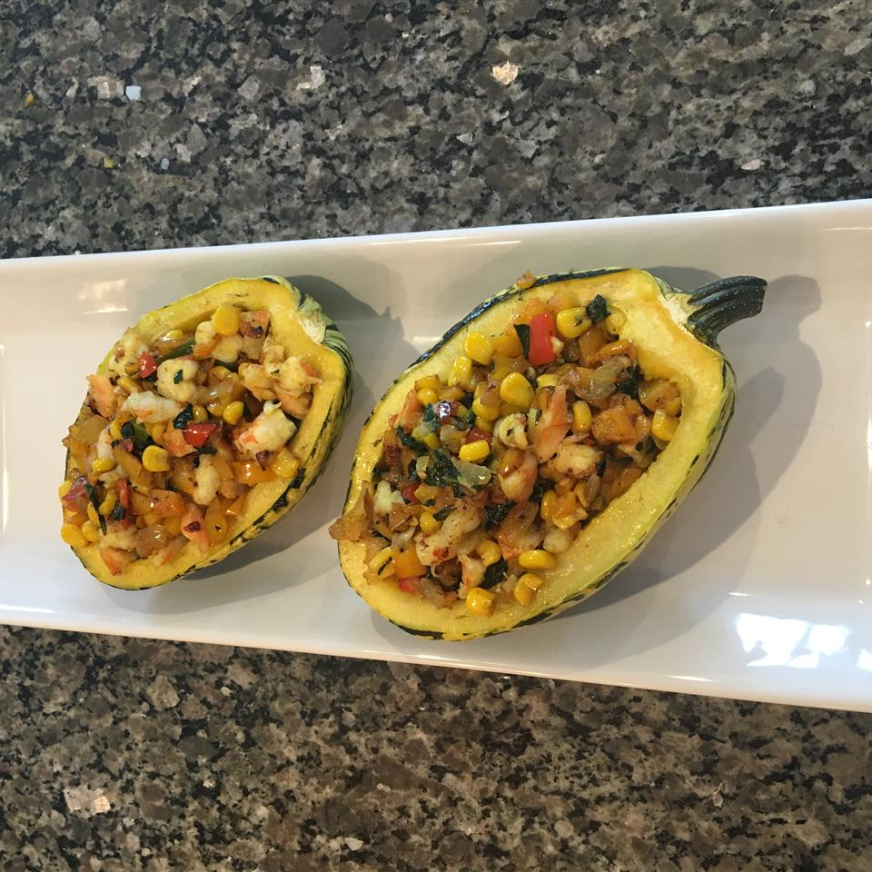Shrimp Stuffed Delicata Squash Heather Anderson Tate
