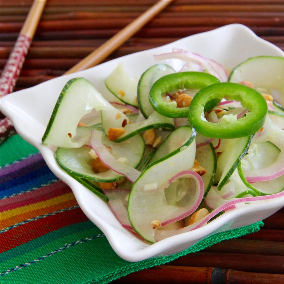 Asian-Inspired Cucumbers with a Kick