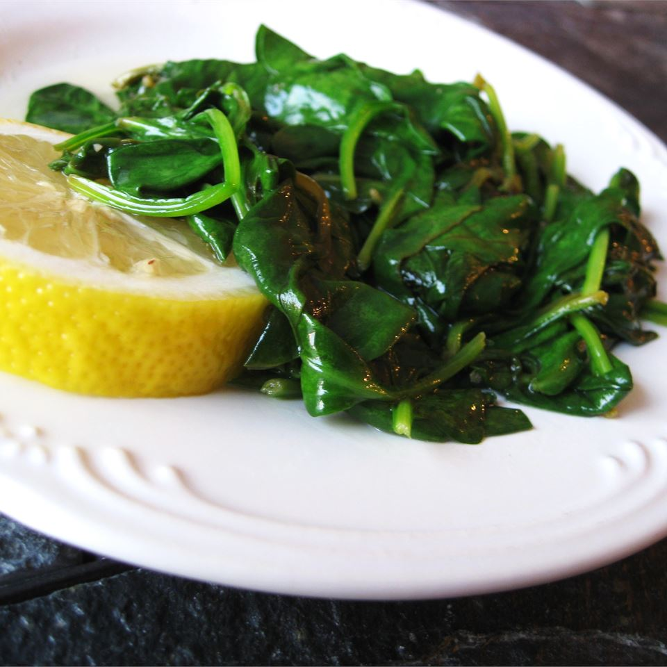 Buttery Lemon Spinach_image