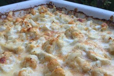 cauliflower triple cheese gratin recipe
