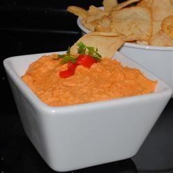 Spiced Sweet Roasted Red Pepper Hummus Pam Ziegler Lutz