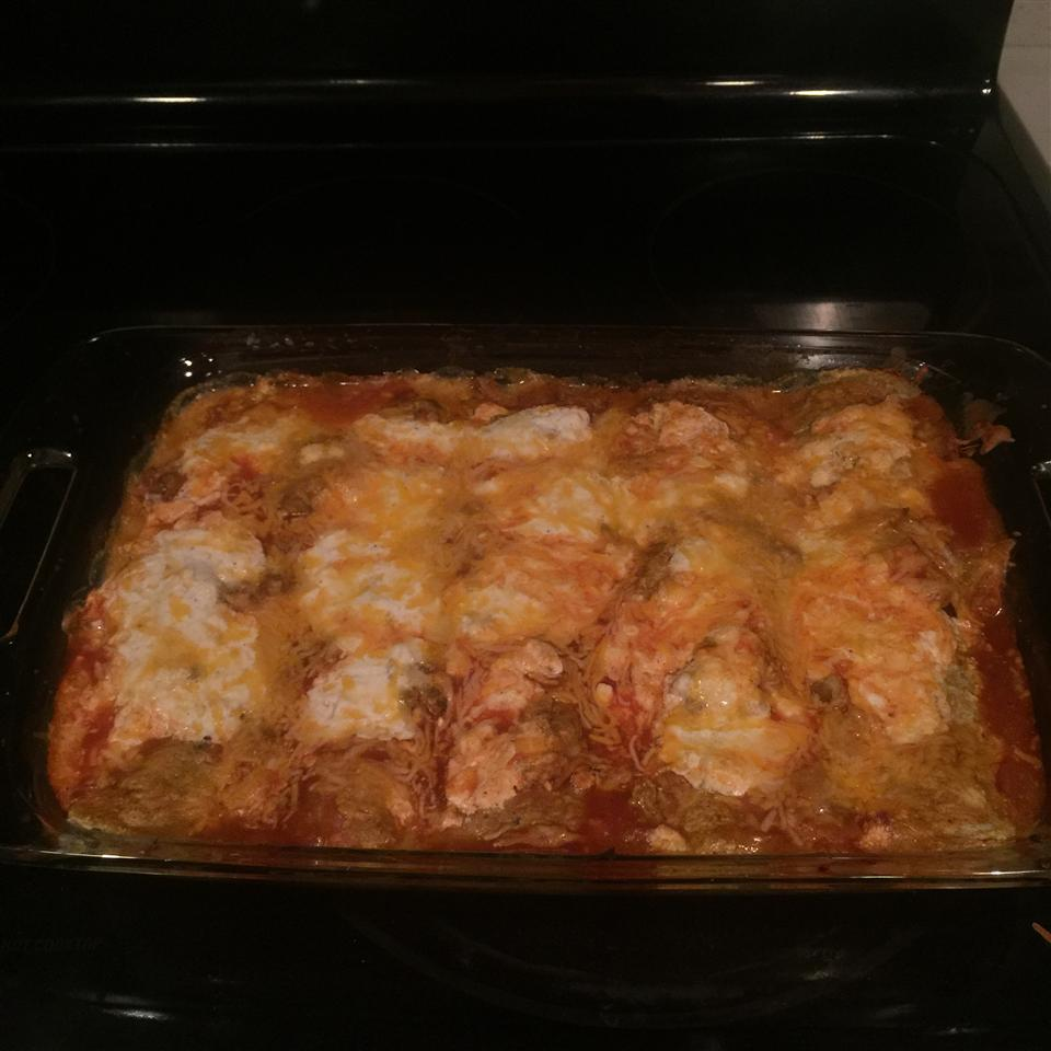 Cottage Cheese Chicken Enchiladas blnd4aresn