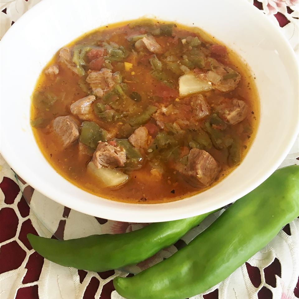 Pulled Pork Hatch Chile Stew