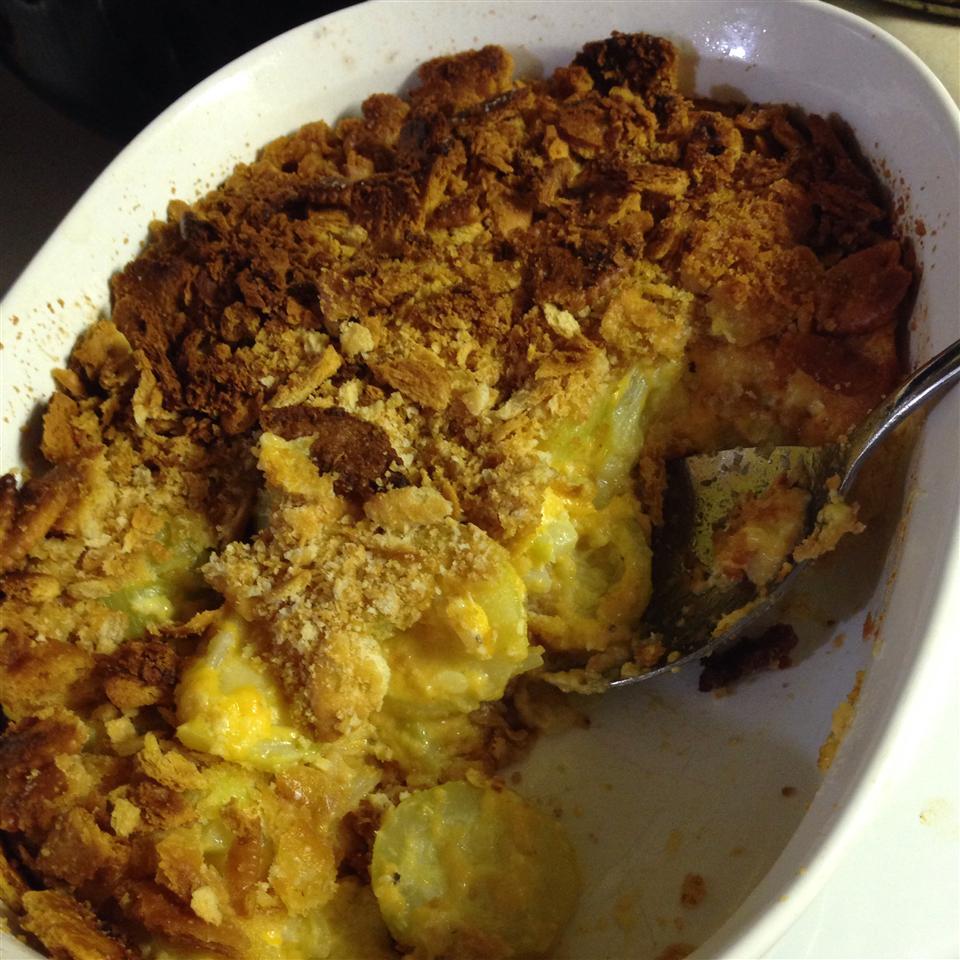 Cheesy Zucchini Casserole II April White
