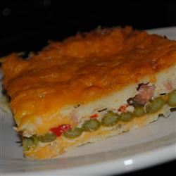 Cheddar-Bacon-Asparagus Strata