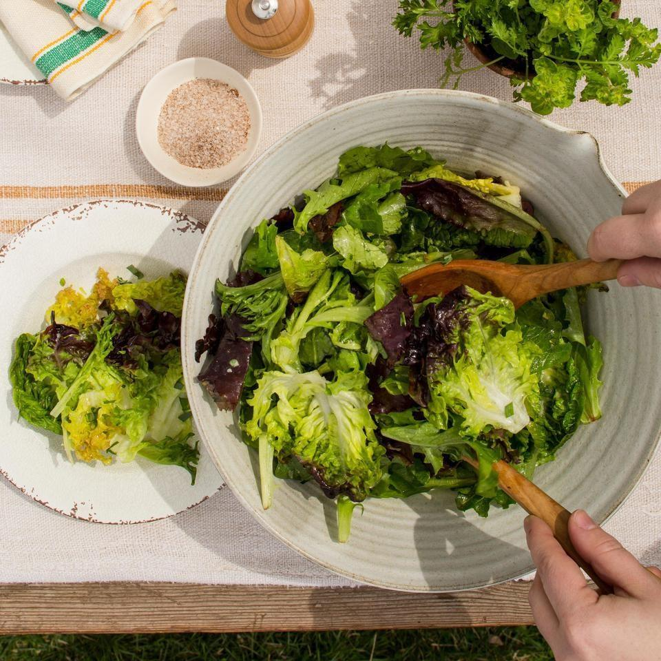Basic Green Salad with Vinaigrette EatingWell Test Kitchen