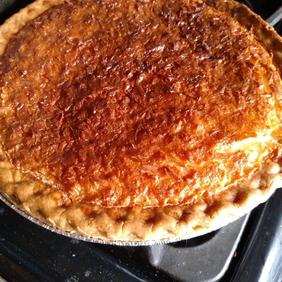 Coconut Custard Pie I Gloria Albarran Rivera