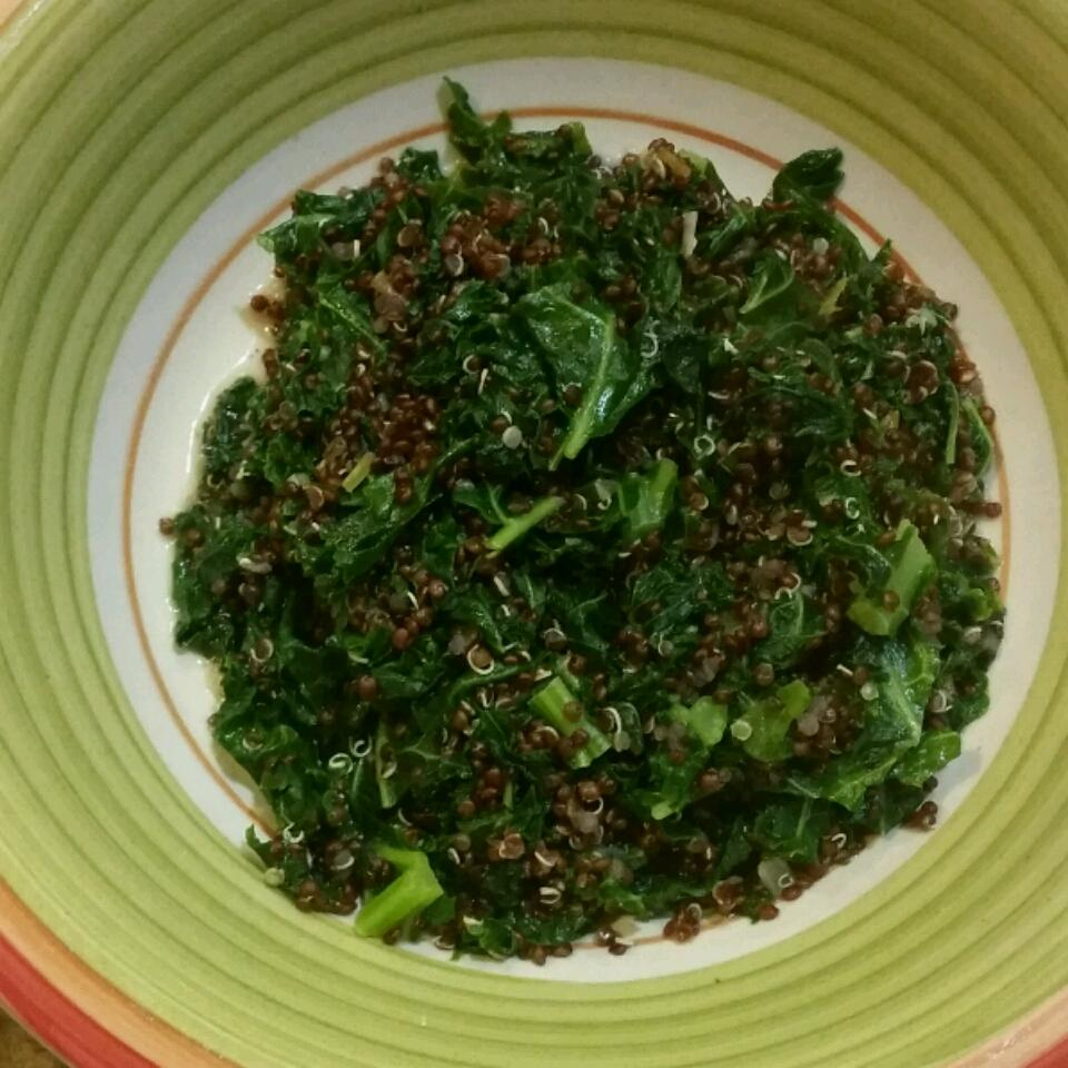 Kale and Quinoa with Creole Seasoning Tish