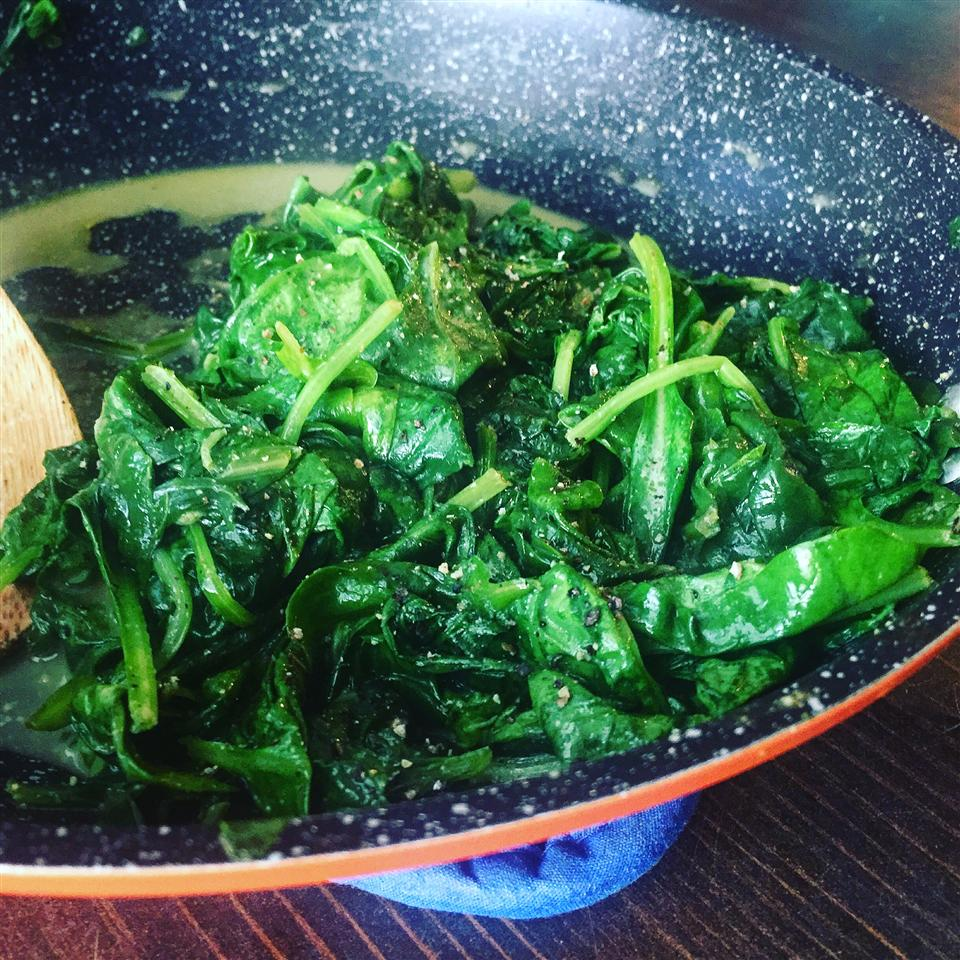 Easy Fried Spinach My Hot Southern Mess