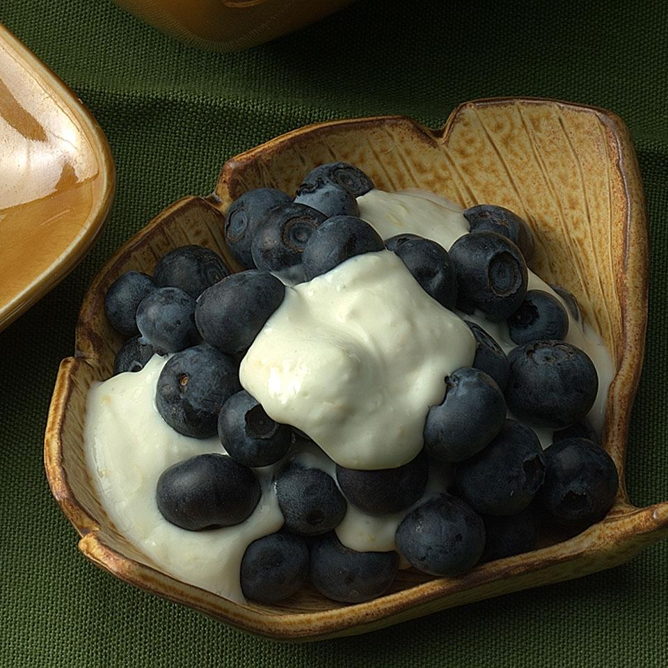 Blueberries with Lemon Cream Jim Romanoff