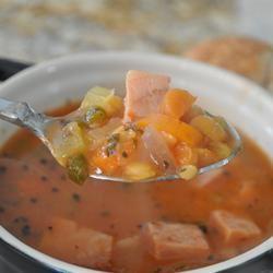 Slow Cooker Lentil and Ham Soup Alberta Rose