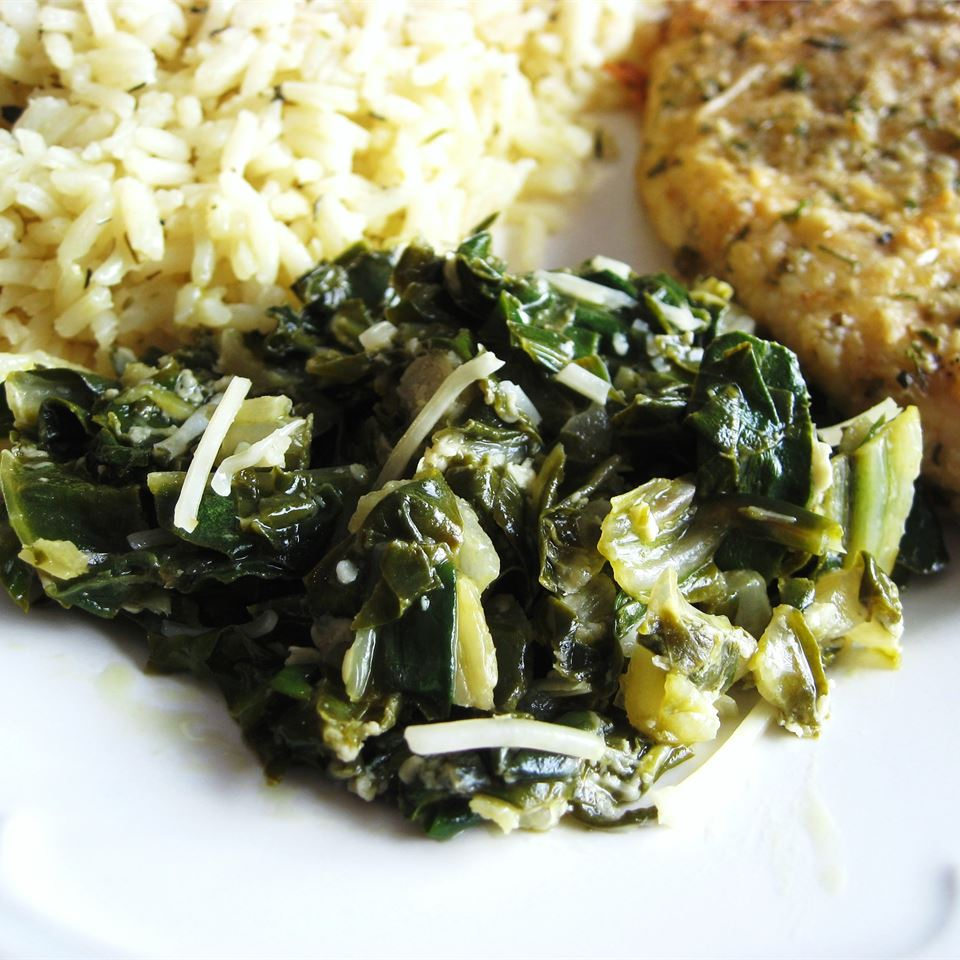 Sauteed Swiss Chard with Parmesan Cheese DannyBoy