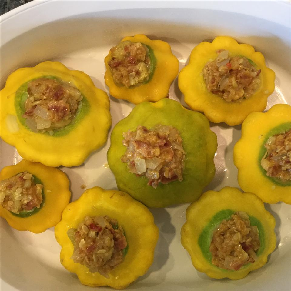 Stuffed Scalloped (Patty Pan) Squash