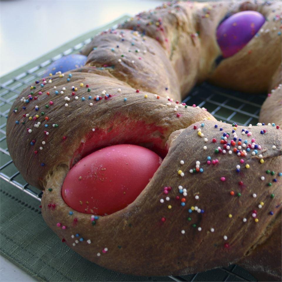 Braided Easter Egg Bread ChristineM