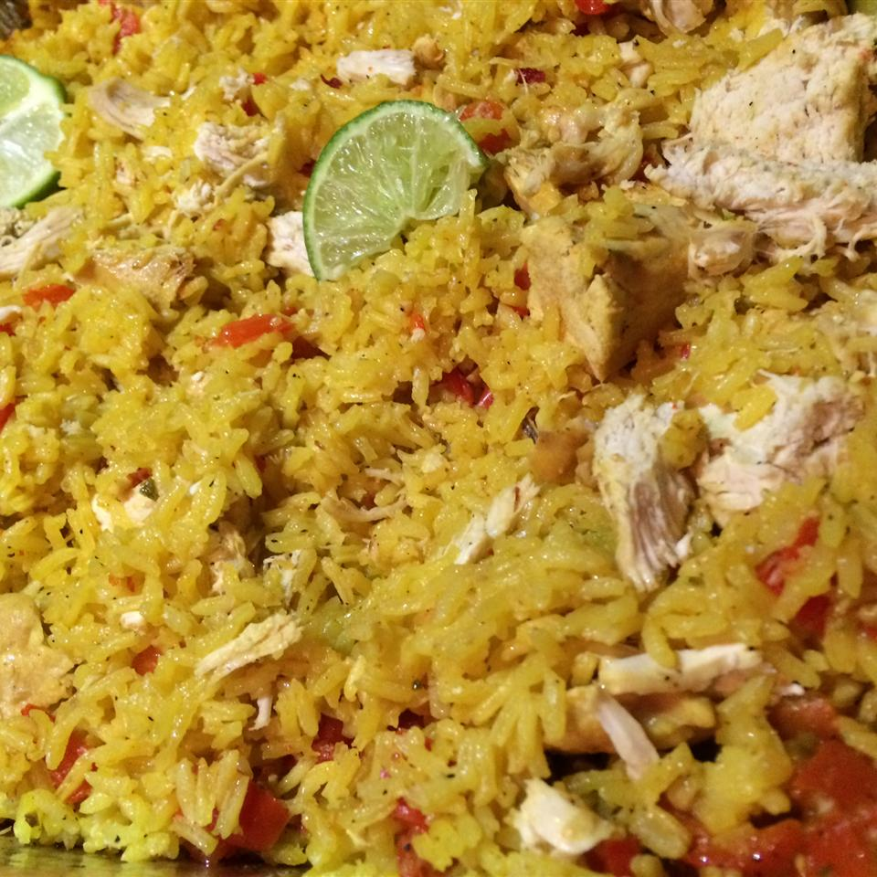 Easy Chicken and Yellow Rice samantha
