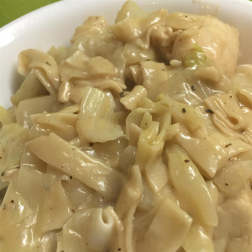 Creamy Cabbage with Noodles Runners