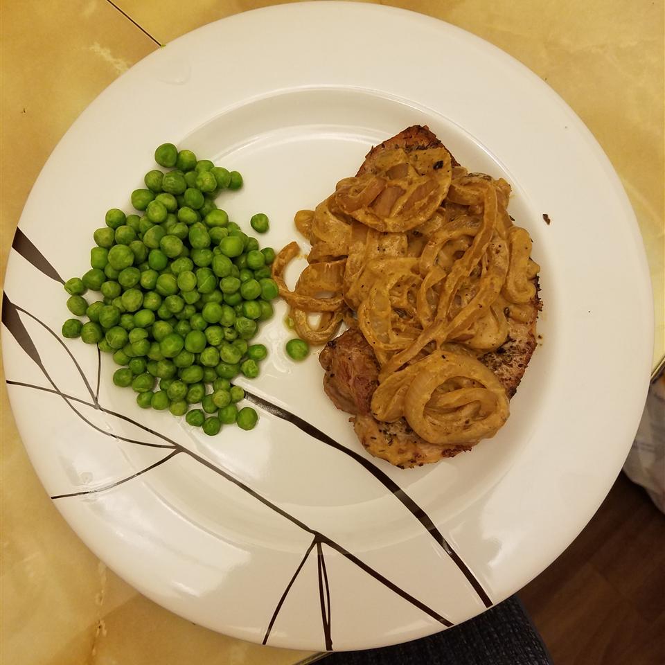 Boneless Pork Chop with Shallot Mustard Sauce Cindy Crockett