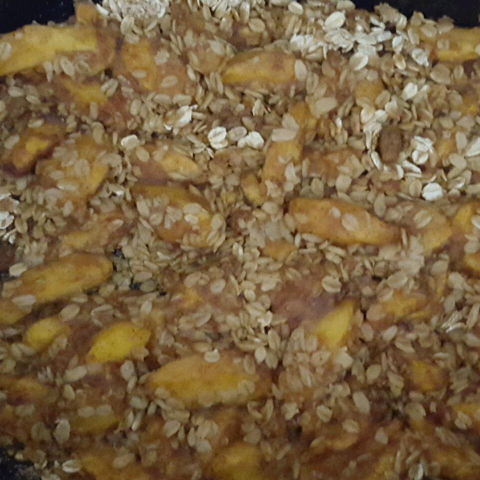 Slow Cooker Peach Cobbler Cortney