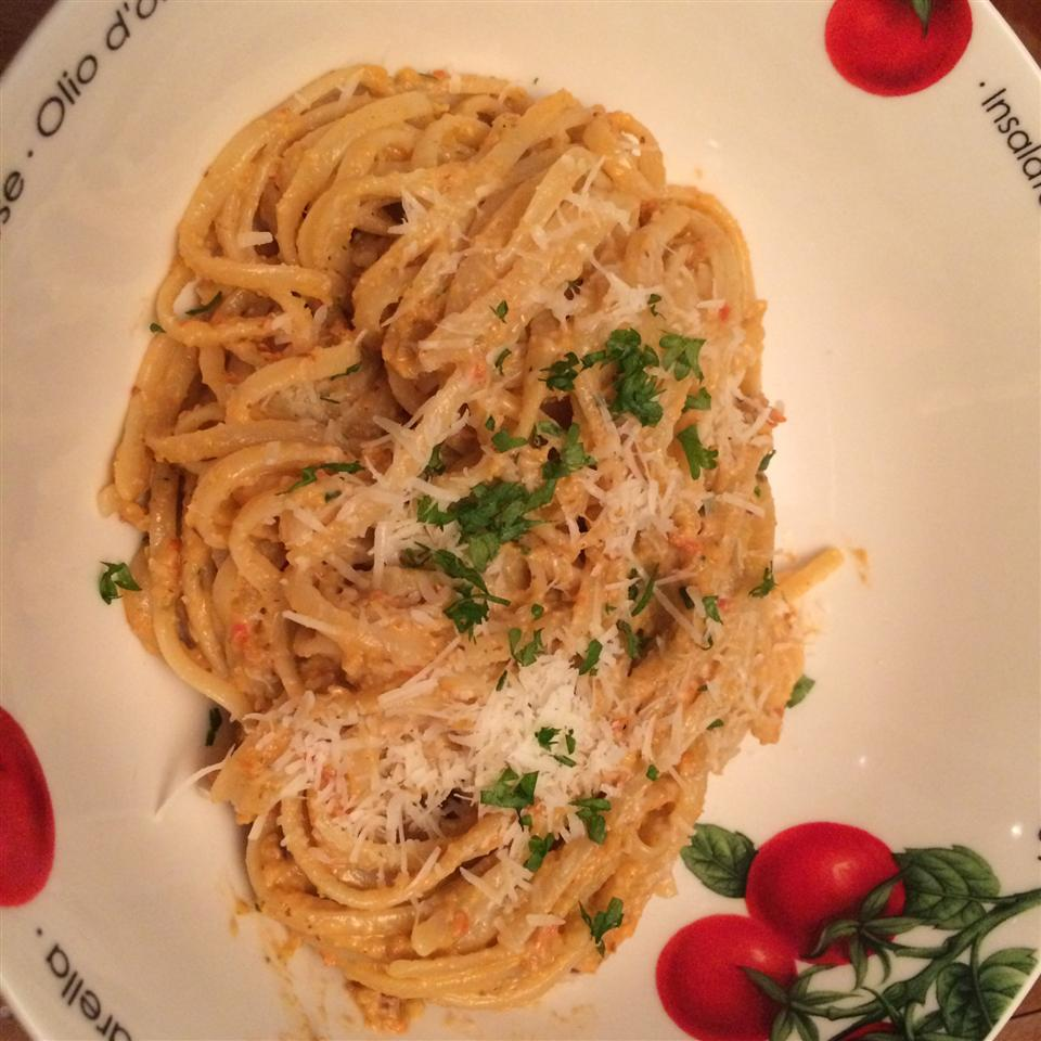 """Here's a Sicilian take on pesto that uses almonds and fresh tomatoes. It's pesto in the style of Trapani, a city in western Sicily. """"Great for summer-time garden growers!"""" says CasualCook. """"This is great on top of fresh pasta or as a spread inside a wrap or sandwich."""""""