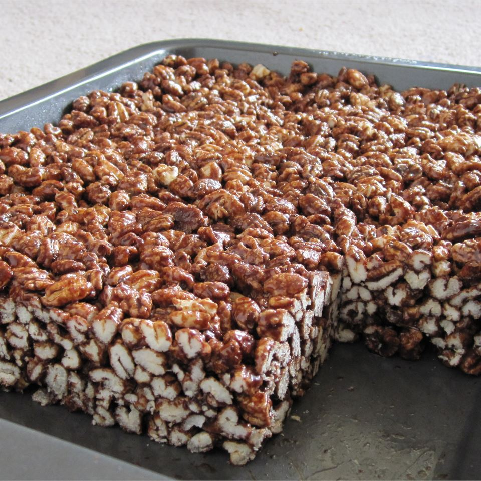 Chocolate Puffed Wheat Squares