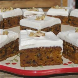 Carrot Cake Bars Inga Bryde