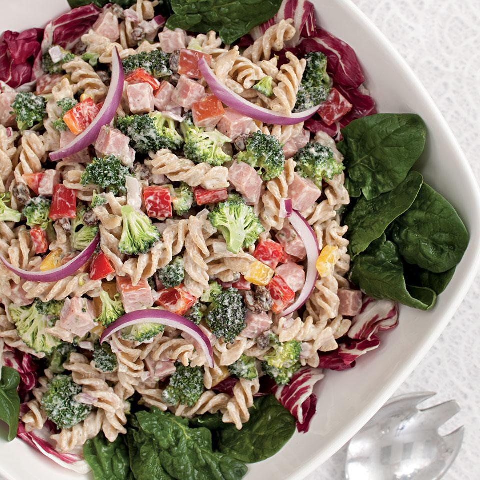 Broccoli, Ham & Pasta Salad EatingWell Test Kitchen