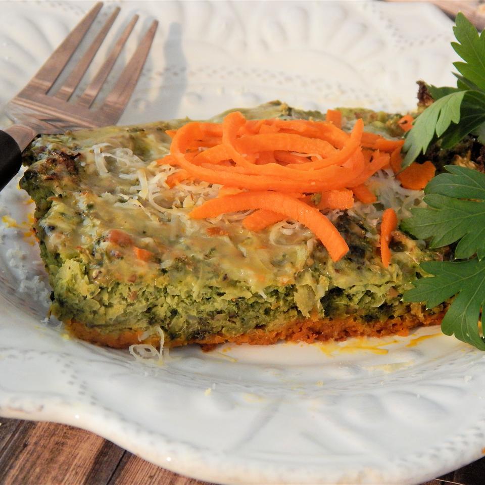 Carrot Crust Broccoli Quiche