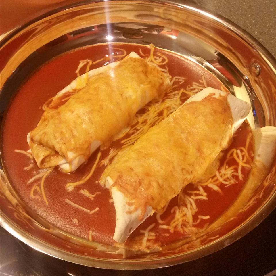 Easy Creamy Chicken Enchiladas