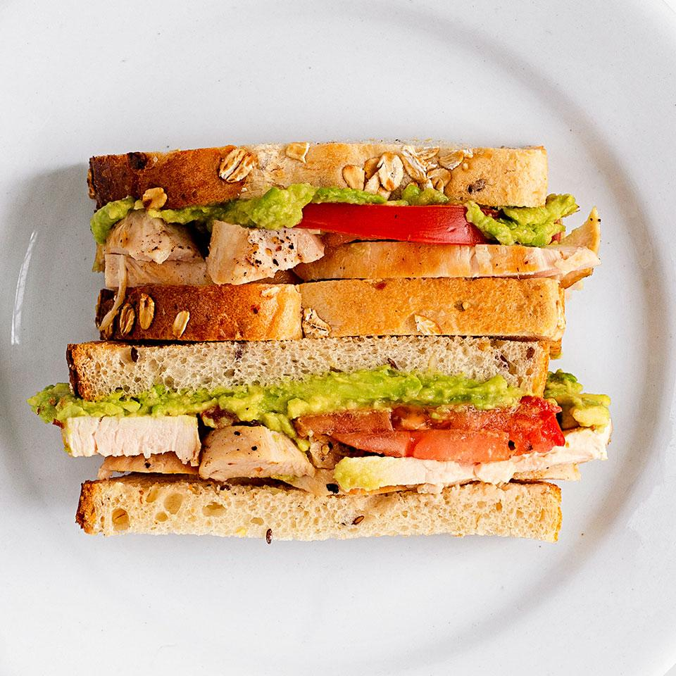 Avocado, Tomato & Chicken Sandwich EatingWell Test Kitchen