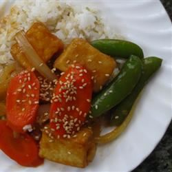 Orange Beef-Style Tofu Stir-Fry Cali Bee