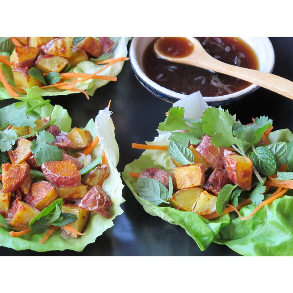 Thai Lettuce Cups with Red Curry Potatoes Allrecipes Trusted Brands