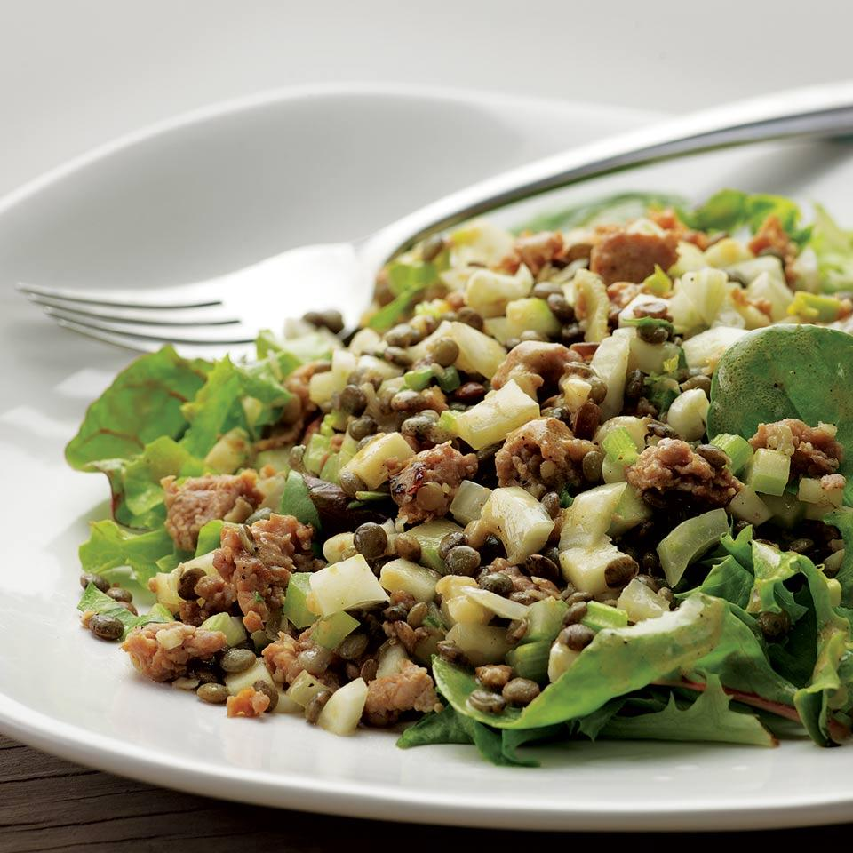 Warm Lentil Salad with Sausage & Apple EatingWell Test Kitchen