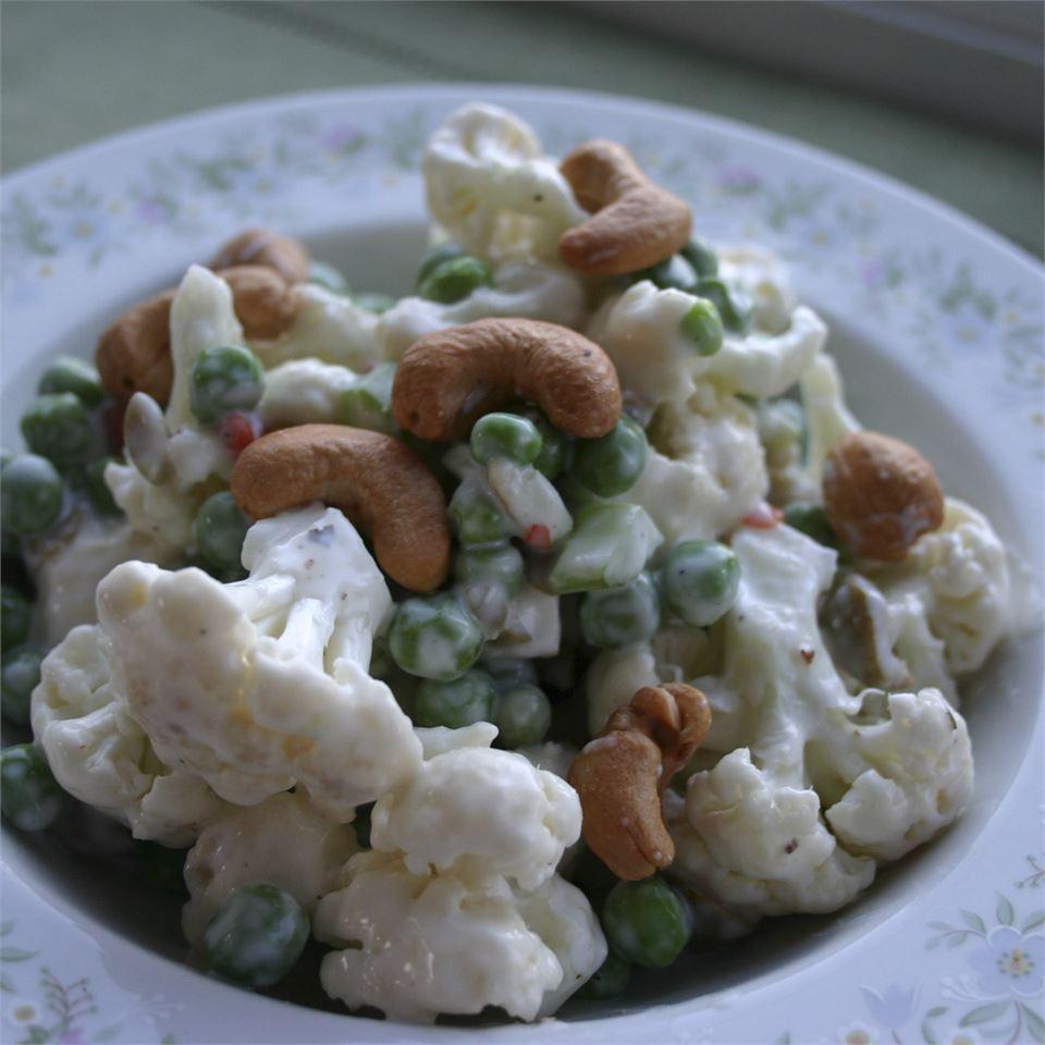 Pea and Cauliflower Salad