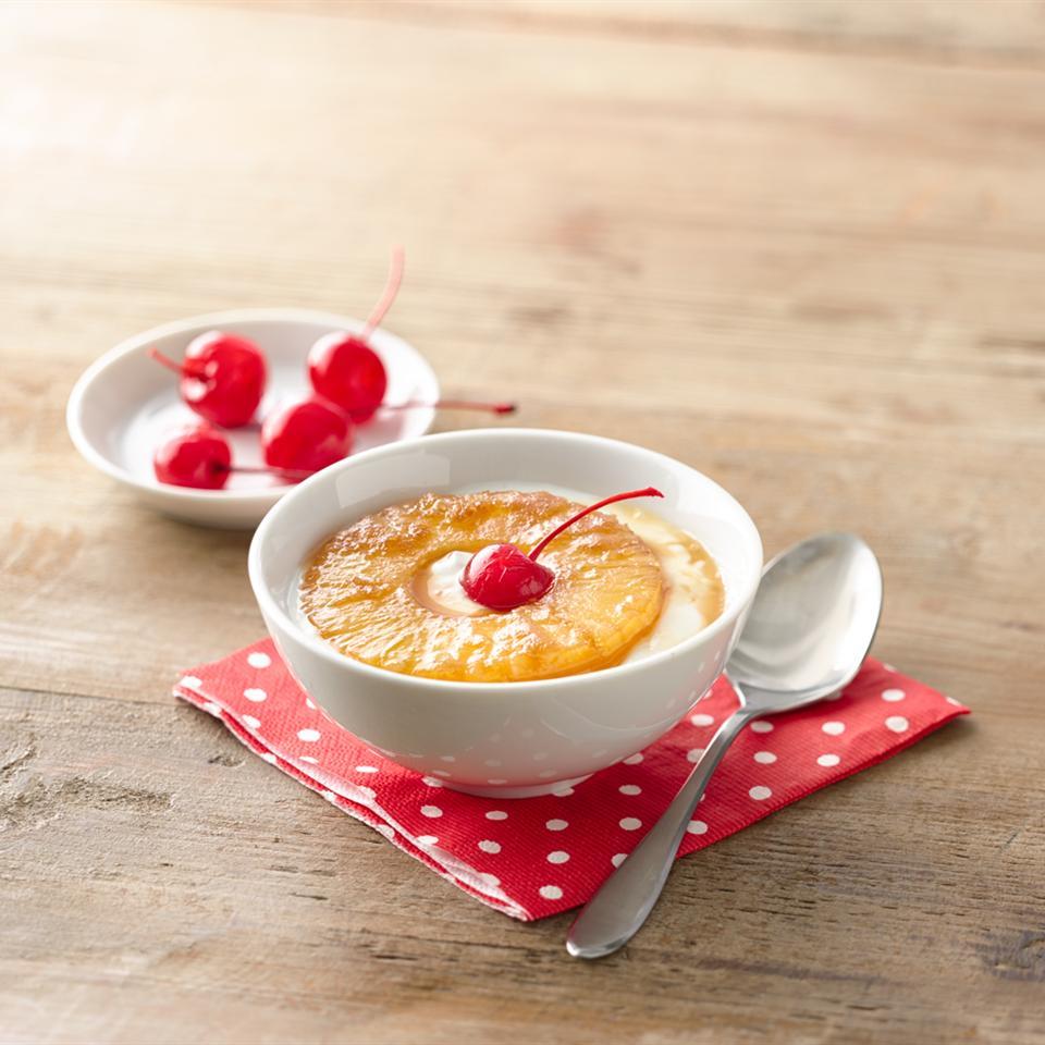Pineapple Upside-Down Yogurt Cup