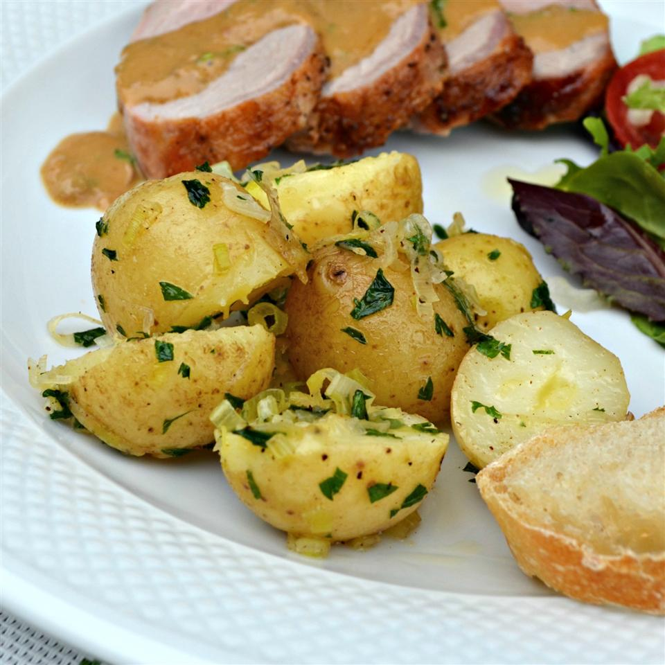 Buttery New Potatoes with Leeks and Parsley Kim's Cooking Now