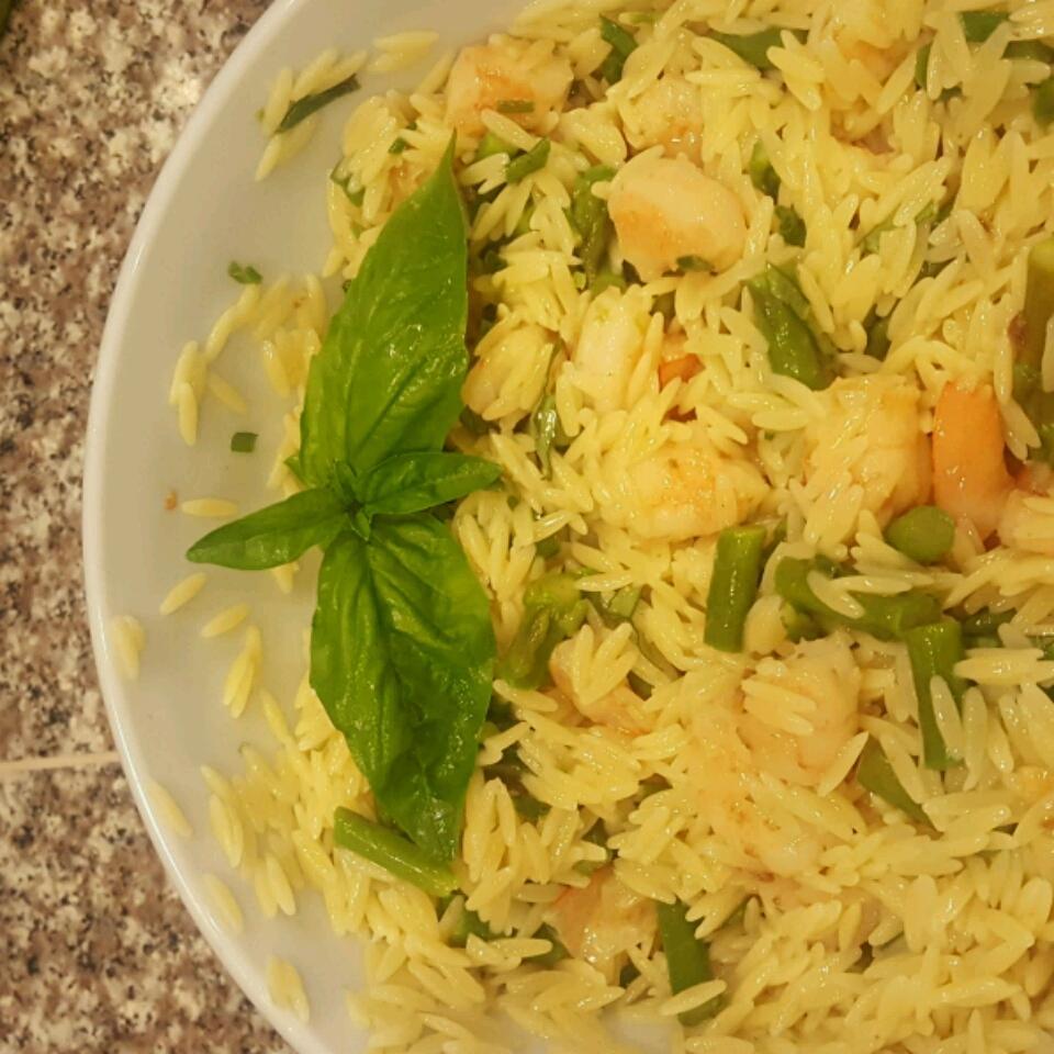 Orzo and Shrimp Salad with Asparagus Regina Morf