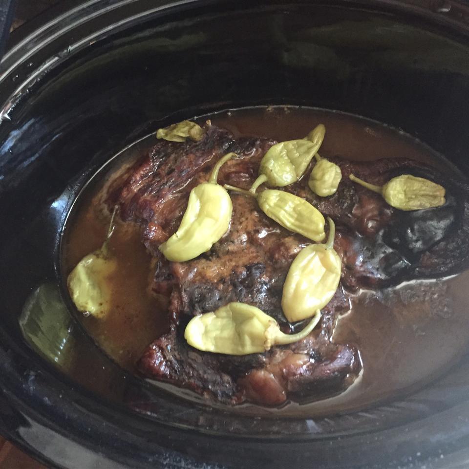 Mississippi Roast - Slow Cooker Pepperoncini Pot Roast Alison Bull