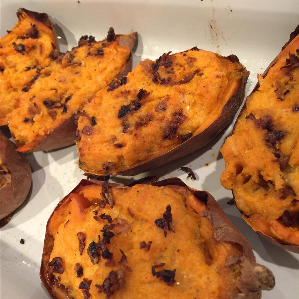 Twice Baked Sweet Potatoes with Ricotta Cheese Amy Lawler