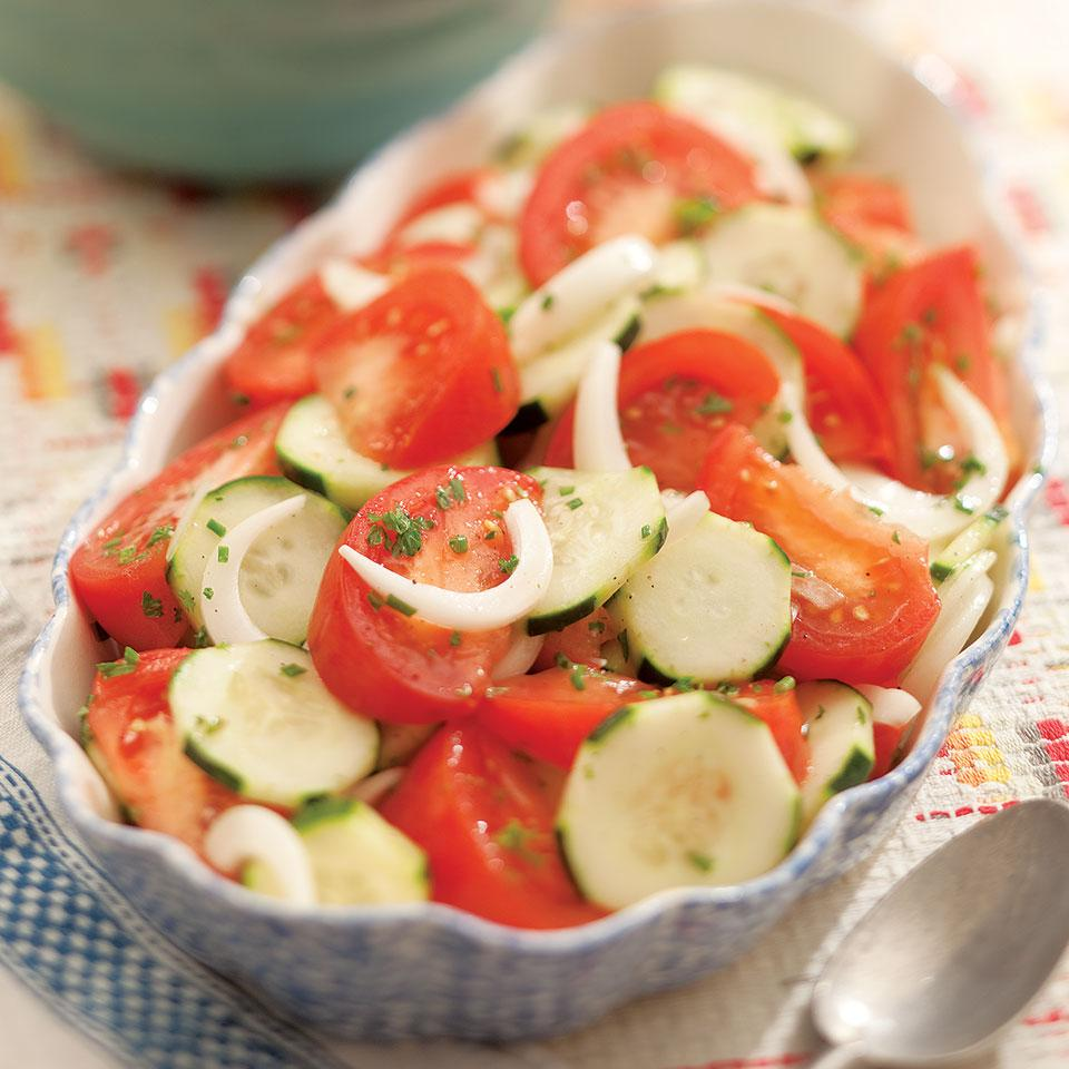 Summer Tomato, Onion & Cucumber Salad Virginia Willis