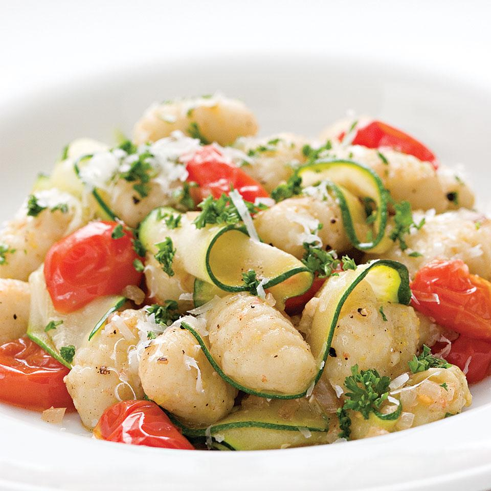 Gnocchi with Zucchini Ribbons & Parsley Brown Butter EatingWell Test Kitchen