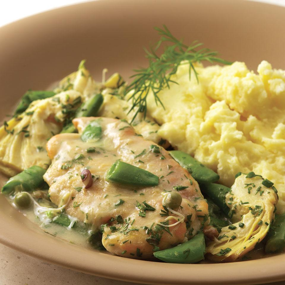 Chicken with Sugar Snap Peas & Spring Herbs EatingWell Test Kitchen