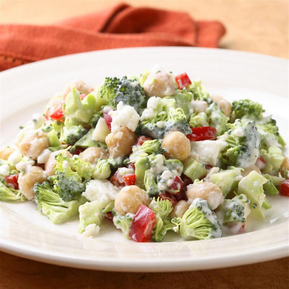 Broccoli Salad with Creamy Feta Dressing EatingWell Test Kitchen