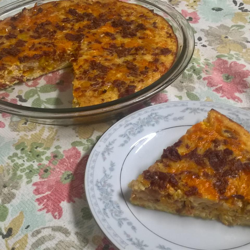 Low-Carb Cauliflower Crust Breakfast Pie