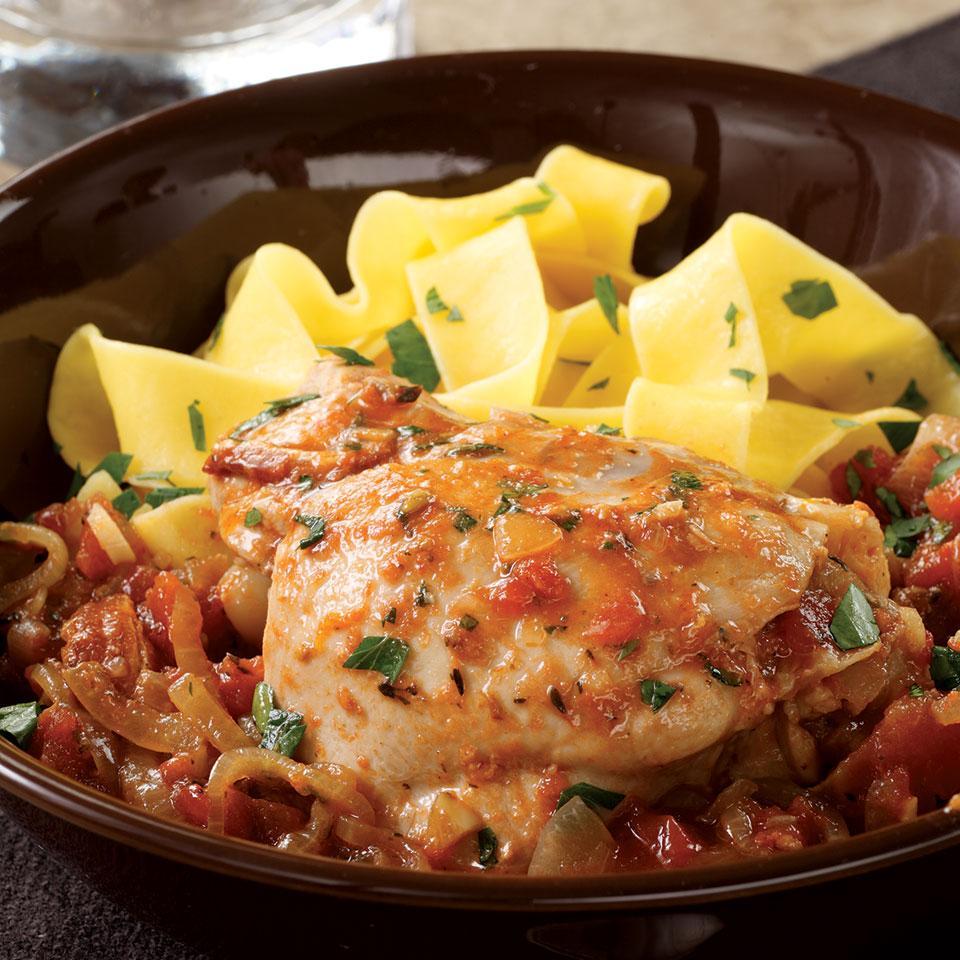 Wine & Tomato Braised Chicken Judith Finlayson